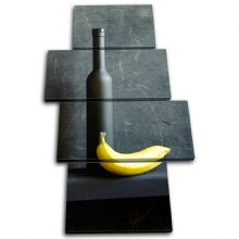 Wine Bottle Banana Food Kitchen - 13-1686(00B)-MP04-PO